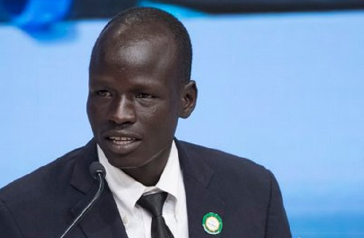 South Sudanese refugee and UNHCR's new Goodwill Ambassador Yiech Pur Biel (Photo credit: unknown)