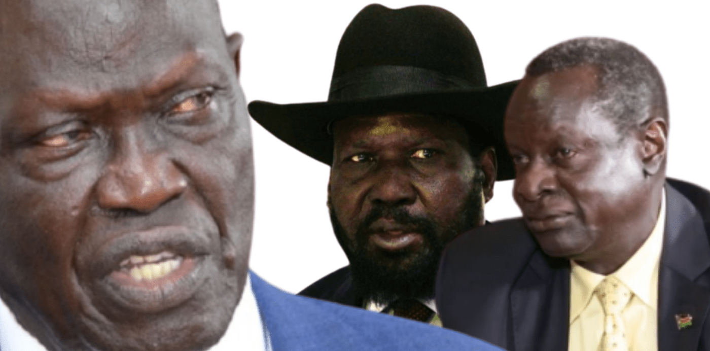Kiir is not happy the way the finance minister and Central bank governor are running the economy (Photo designed by Nyamilepedia)