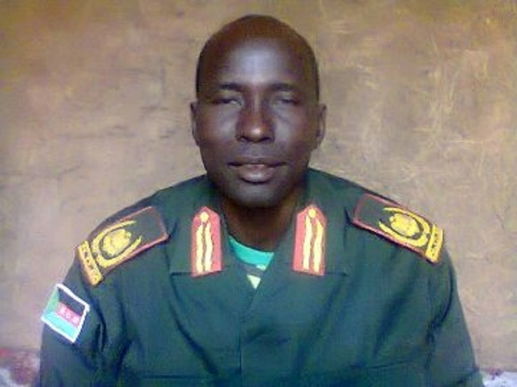 Outgoing NDM military chief Nicodemus Deng Deng (Photo credit: unknown)