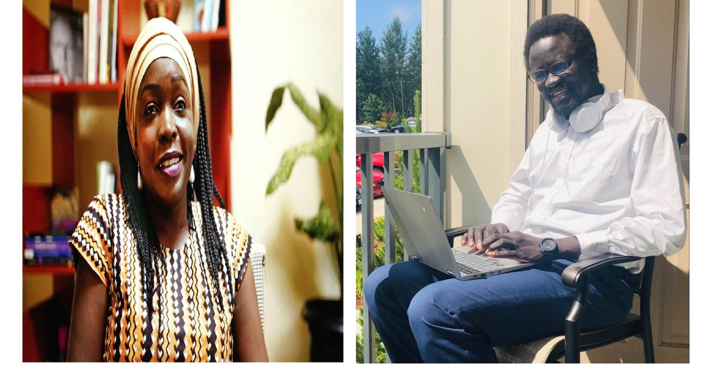A graphic image of Rita(left) and the author, Francis Banychieng Jor, a former youth leader at USIP(Photo designed: author)