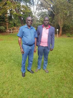 Dr. Sunday de John and Gen. Paul Malong posting for a picture in the past(Photo credit: supplied)