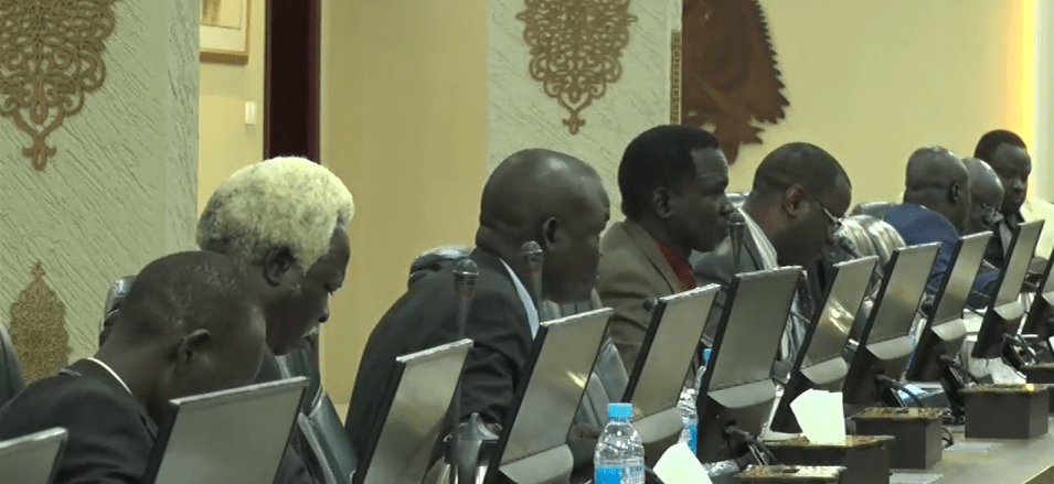South Sudan cabinet ministers deliberate on the number of counties that should be allocated to parties, Sep 23, 2020(Photo credit: Nyamilepedia)