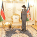 President Salva Kiir meeting with the Chief Administrator of Pibor Administrative Area, Joshua Konyi, on September 24, 2020(Photo credit: OoP/Nyamilepedia)