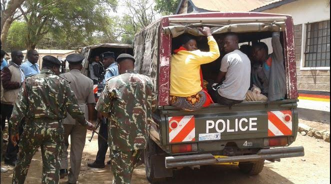 Kenyan police transporting immigrants they arrest for traveling within Kenya without valid documents(Photo credit: supplied)