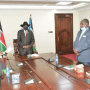 President Salva Kiir presiding over the swearing in ceremony of the newly appointed finance minister and planning among other officials(Photo credit: OoP/Nyamilepedia)