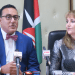 Najib Balala, Kenya's cabinet secretary of Tourism and Wildlife, left, and Gloria Guevara, CEO and president of World Travel and Tourism Council.(Photo credit: Lucie Morangi/China Daily)