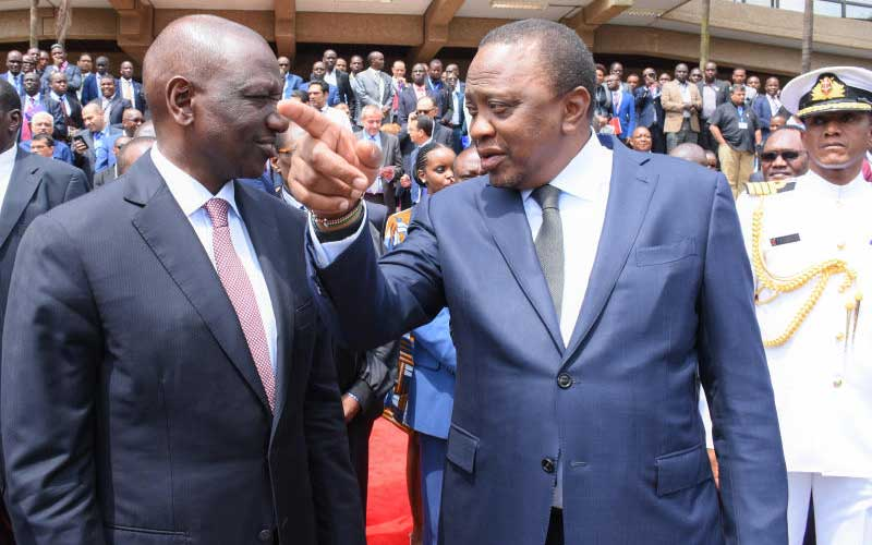 President Uhuru Kenyatta with his deputy William Ruto during a past event(Photo credit: supplied)
