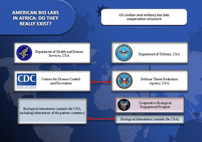 US civilian and military bio labs cooperation structure