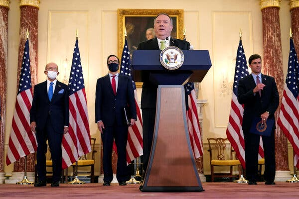 Secretary of State Mike Pompeo has the authority to remove Sudan from the list without congressional approval.Credit...Pool photo by Patrick Semansky