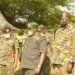South Sudan Chief of Defense Force, Gen. Johnson Juma Okot, meeting UPDF Deputy Chief of Defense Forces, Lt Gen Wilson Mbasu Mbadi in Gulu on Friday, Nov 20th, 2020(Photo credit: PHOTO/ TOBBIAS JOLLY OWINY)