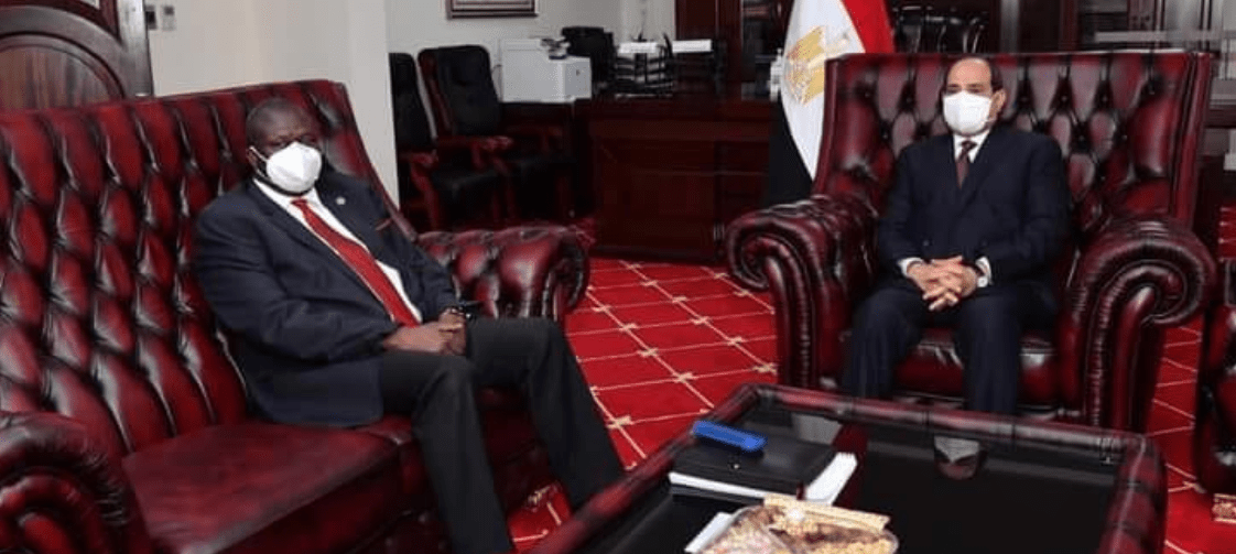 First Vice President Machar meets Egyptian President, Al-Sisi