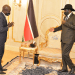 President Salva Kiir meeting the Deputy Commissioner-General of the National Revenue Authority Africano Mande in his Office today.(Photo credit: courtesy image/Op