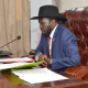 President Salva Kiir speaking during the East African Community, Feb 27, 2021(Photo credit: supplied)