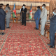 President Salva Kiir Mayardit at his official residence, meeting with the National Taskforce on Covid-19 led by Vice President for Services Delivery Cluster H.E. Hussein Abdelbaggi Akol(Photo credit: supplied)