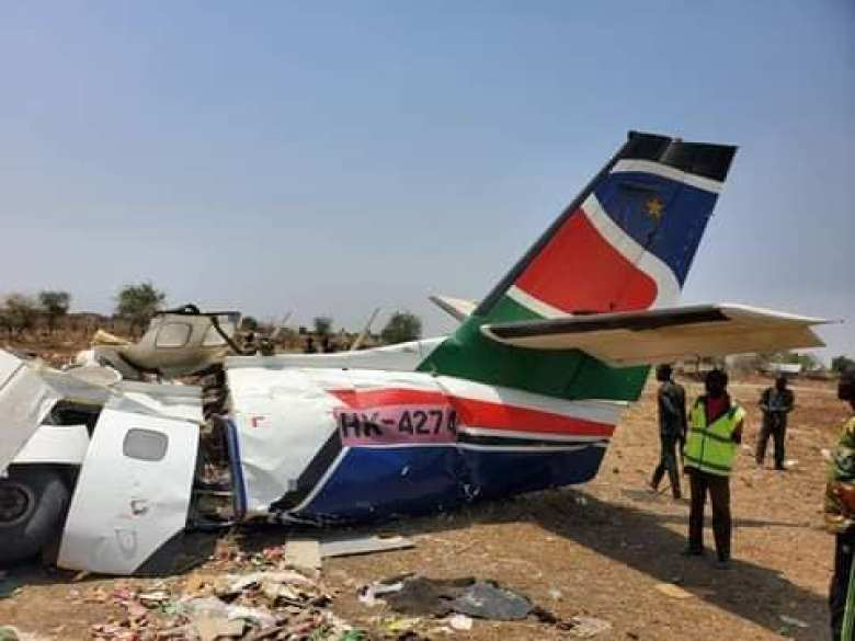 A piece of South Supreme Airlines after crashing in Pieri, Uror County(Photo credit: supplied)