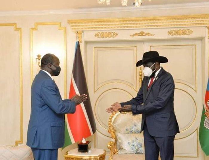Jonglei State Deputy Governor Antipas Nyok meets president Kiir