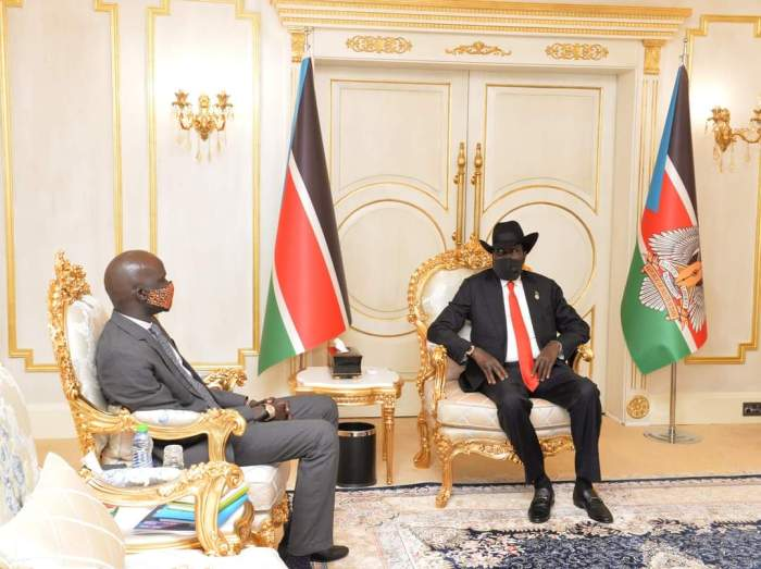 Petroleum Minister briefs President Kiir on activities within oil sector