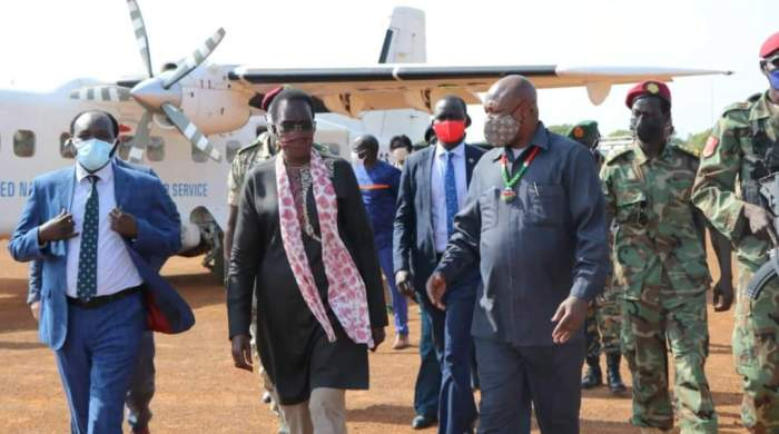A government delegation led by the Country's Vice President for Youth and Gender cluster Rebecca Nyadeng Garang has urgently rushed to Eastern Equatoria State capital to quel an imminent uprising by the youths.