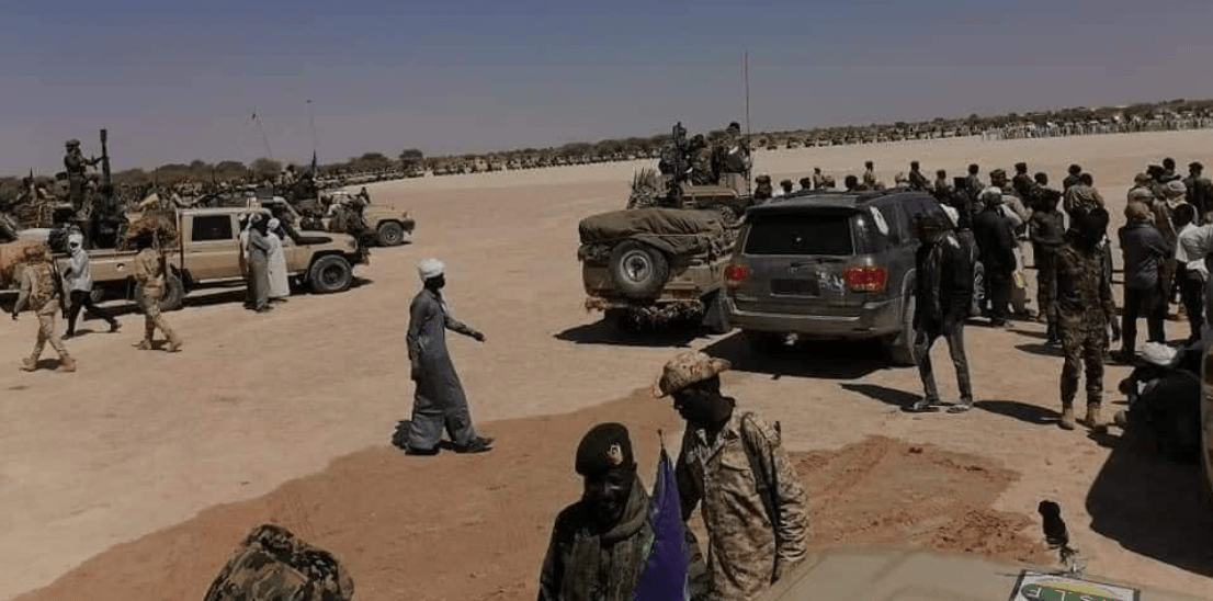 Sudanese forces parading after a tension between the army and parallel forces known as the Rapid Support Force(Photo credit: supplied)