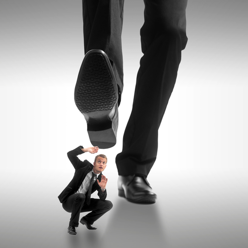Resultado de imagen para man stepping on another man