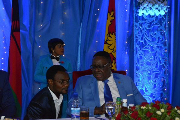 President Mutharika with DPP's Field Marshal Dr Ben Phiri