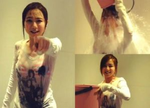 A Chinese Girl accepted Ice bucket challenge.