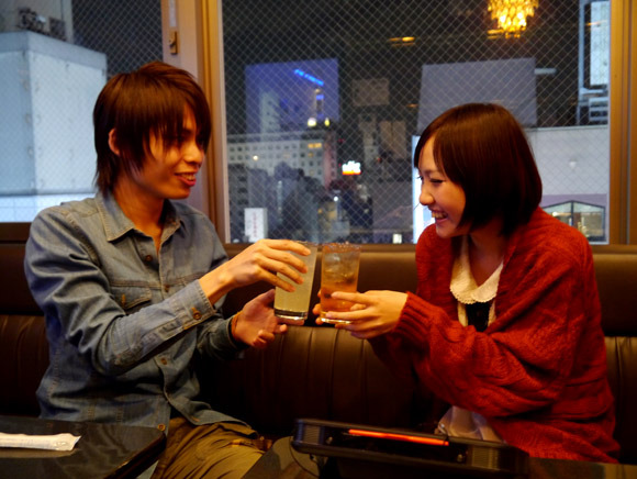 Sharing alcoholic drink