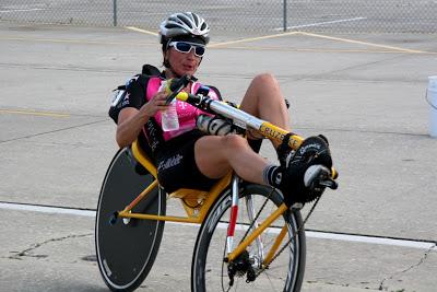 Maria Parker racing on a Cruzbike Vendetta.