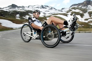 Scorpion fs 26 from HP Velotechnik (folding): fully-suspended performance trike for daily riding, touring, commuting, racing, off-roading. Photo: HP Velotechnik.