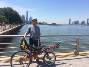 Me with my HP Velotechnik Street Machine by the Hudson River.
