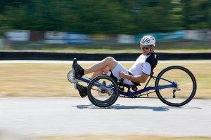 Gekko fx 26 from HP Velotechnik: folding trike for daily riding, touring, commuting. Photo: HP Velotechnik.