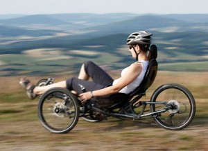 Scorpion fs 20 from HP Velotechnik (folding): fully-suspended performance trike for daily riding, touring, commuting, racing, off-roading. Photo: HP Velotechnik.