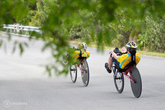 Cruzbike Vendetta recumbent bicycle riders training for the next race.