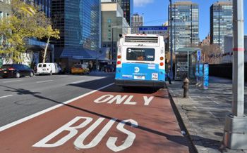 Curbside bus lanes