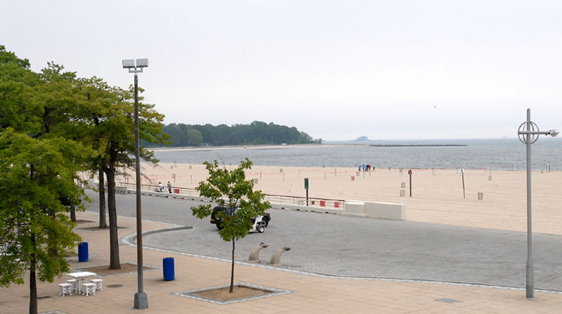 Orchard Beach, the Bronx, New York