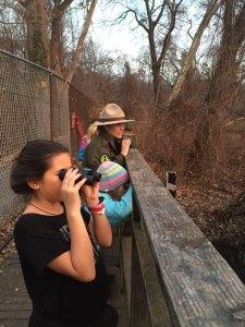 Girls Scouts birdwatching