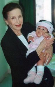 Joyce Matz with her grandchild, Chloe Matz, at her adoption ceremony in Vietnam.