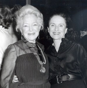 Actress Helen Hayes and Joyce Matz.