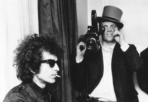 "Bob Dylan and D.A. Pennebaker In ""Don't Look Back"""