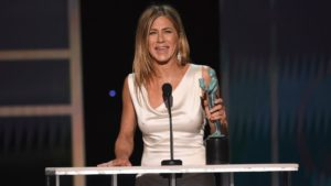 jennifer aniston holds trophy 26th Annual SAG Awards - Show, Los Angeles, USA - 19 Jan 2020