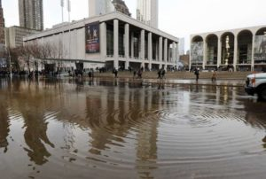water main break floods lincoln center area
