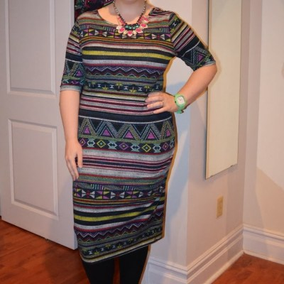 What NYC Recessionista Wears: tribal print dress