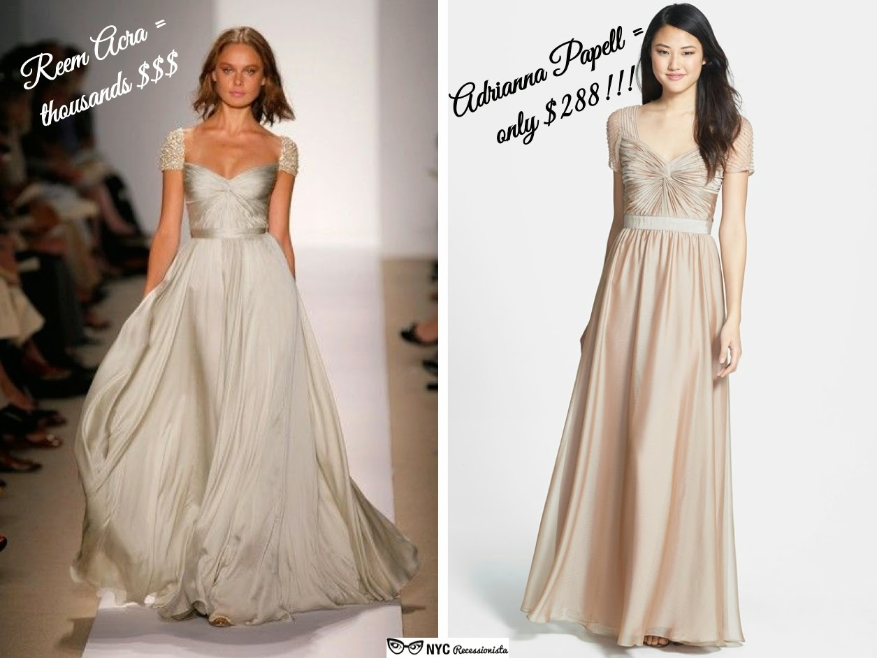 Affordable Alternatives: Reem Acra Cap-sleeve Wedding