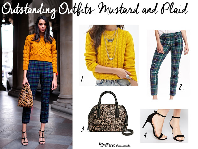 Outstanding Outfits Mustard And Plaid Nyc Recessionista