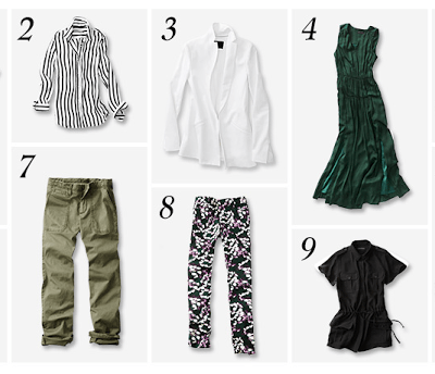 40 percent off at Banana Republic + 10 Pieces = 10 Outfits