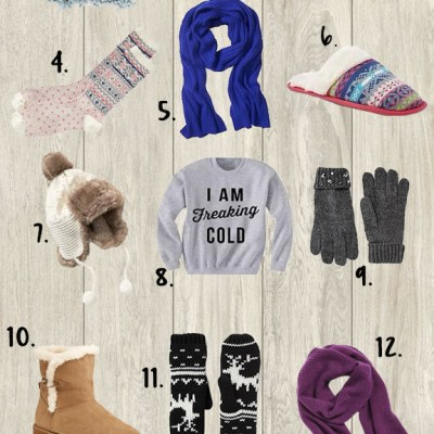 Holiday Gifts for the Cold