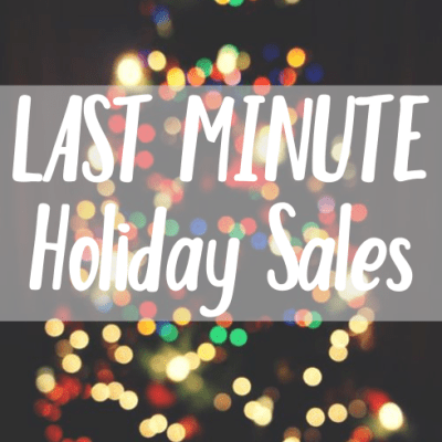 LAST MINUTE HOLIDAY SALES