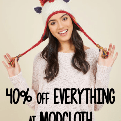 ENDS SATURDAY MORNING: 40 percent off everything at Modcloth