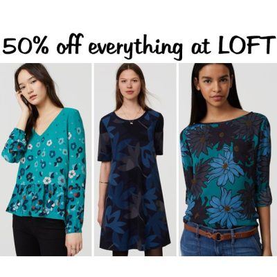 SALE ALERT: everything at LOFT is now 50 percent off