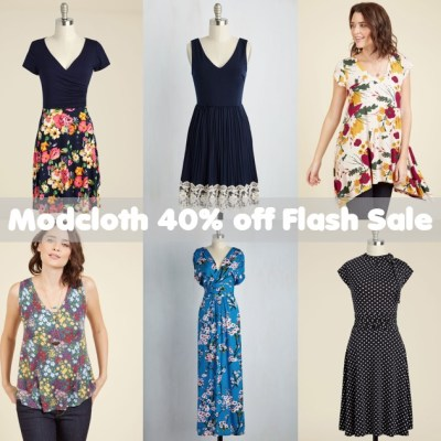 ONE-DAY FLASH SALE – 40 percent off at Modcloth